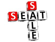 3D Seat sprzedaży Crossword Obraz Royalty Free