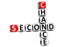 3D Second Chance Crossword. On white background royalty free illustration
