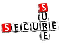 3D Secure Sure Crossword Royalty Free Stock Photo