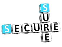 3D Secure Sure Crossword Stock Image