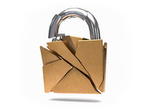 3D  Security Broken Padlock. No protection or insecurity concept Stock Photography
