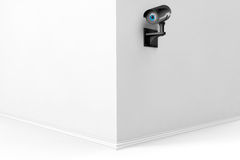 3d Security Camera with eye Royalty Free Stock Images