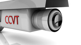 3d security camera Royalty Free Stock Photos