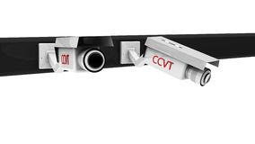 3d security cameras Stock Image