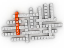 3d Security Concept word cloud.  Royalty Free Stock Photos