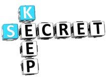 3D sekretu klucza Crossword Fotografia Stock