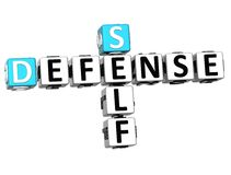 3D Self Defense Crossword cube words. On white background Royalty Free Stock Images