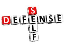 3D Self Defense Crossword cube words. On white background Royalty Free Stock Photos
