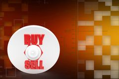 3D Sell Buy Illustration Royalty Free Stock Photo