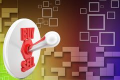 3D Sell Buy Illustration Stock Photo