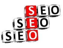 3D Seo Crossword Stockbilder
