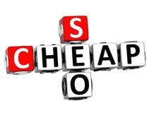 3D Seo Crossword economico su backgrond bianco Fotografie Stock Libere da Diritti