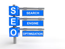 3d SEO description. Royalty Free Stock Photos