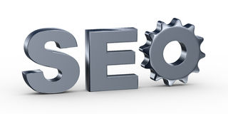 3d seo gear Royalty Free Stock Photo