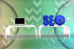 3d  seo illustration Royalty Free Stock Images