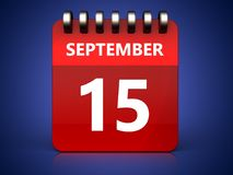 3d 15 september calendar Stock Photo