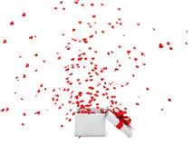 3d serca kształty z pudełka Zdjęcie Royalty Free