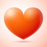 3d serce odizolowywający Zdjęcia Stock