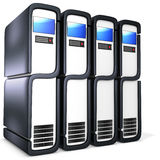 3d server blade units Stock Image