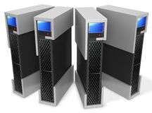 3d server blade units Royalty Free Stock Photos