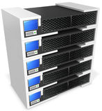 3d server blade units Stock Images