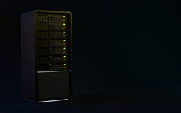 3d servers render black Stock Image