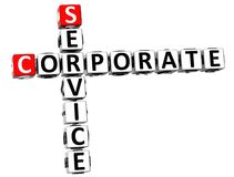 3D Service Corporate Crossword. On white background Royalty Free Stock Photography