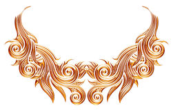 3d set of an ancient gold jewellery ornament on a white background Royalty Free Stock Photo