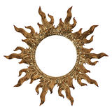 3d set of an ancient gold ornament on a white background Stock Image
