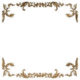 3d set of an ancient gold ornament on a white background. High resolution Royalty Free Stock Photos