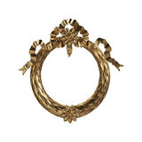3d set of an ancient gold ornament on a white background Royalty Free Stock Image