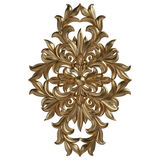 3d set of an ancient gold ornament on a white background Royalty Free Stock Photos