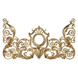 3d set of an ancient gold ornament on a white background Royalty Free Stock Photo