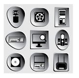 3D set computers icons or image Royalty Free Stock Images