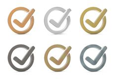 Check mark. 3d icon. Stock Images