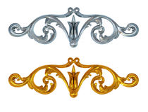 3d set ornate Royalty Free Stock Photos