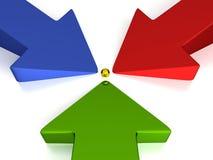 3D setas - 3 cores - produção Imagem de Stock