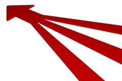 3D setas - vermelho Imagens de Stock