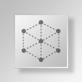 3D Sever Connection icon Business Concept Royalty Free Stock Photo
