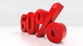 3D sextio procent Arkivfoto