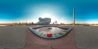 3D sferisch panorama met het bekijken 360 hoek Klaar voor virtuele werkelijkheid of VR Volledige equirectangular projectie Fortne Royalty-vrije Stock Foto