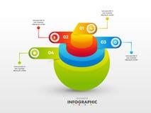 3D sfery koncentryczny diagram dla Biznesowego Infographic pojęcia ilustracji