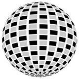 3d sfery okrąg z textured grayscale powierzchnią na bielu Abstrakt Fotografia Royalty Free