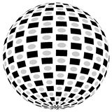 3d sfery okrąg z textured grayscale powierzchnią na bielu Abstrakt Fotografia Stock