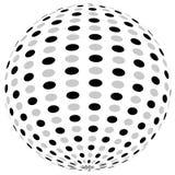 3d sfery okrąg z textured grayscale powierzchnią na bielu Abstrakt Obraz Royalty Free