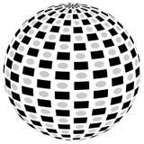 3d sfery okrąg z textured grayscale powierzchnią na bielu Abstrakt Obrazy Stock