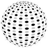 3d sfery okrąg z textured grayscale powierzchnią na bielu Abstrakt Zdjęcia Royalty Free
