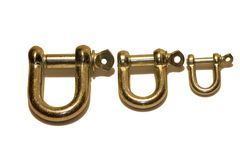 D Shackle's. Isolated D-Shackles stock image
