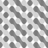 3D shades of gray interlocking striped waves Stock Photography