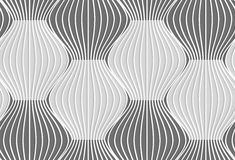 3D shades of gray vertical striped waves Stock Photos